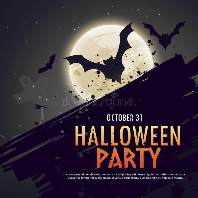 Il volo batte spettrale hallowen il fondo illustrazione di stock