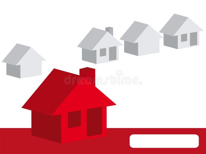 Il vostro amond della casa altri case illustrazione di stock