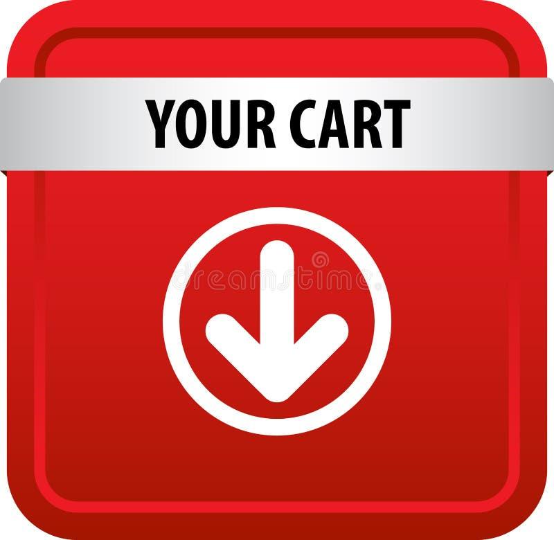 Il vostro bottone di web del carretto royalty illustrazione gratis