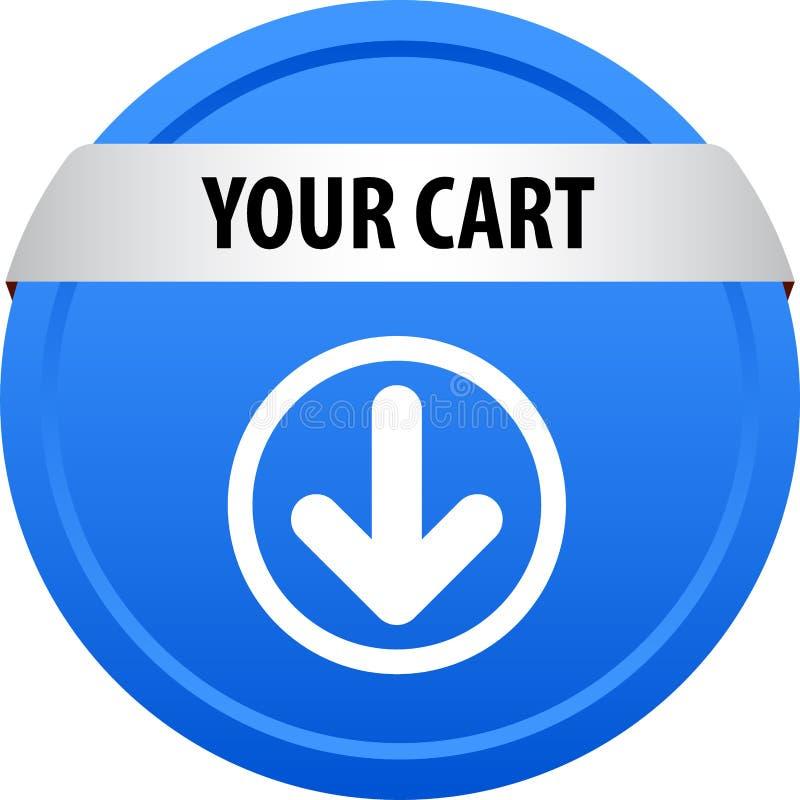 Il vostro bottone di web del carretto illustrazione vettoriale