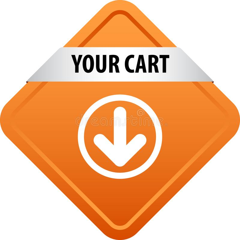 Il vostro bottone di web del carretto illustrazione di stock