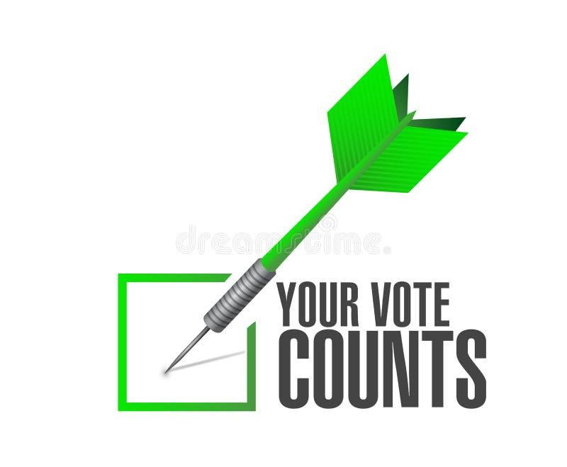 Il vostro concetto del messaggio del dardo del controllo di approvazione di conteggi di voto royalty illustrazione gratis