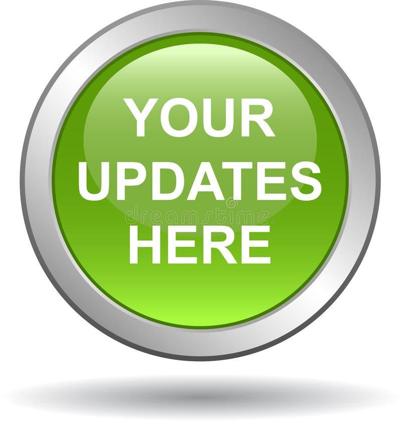 Il vostro degli aggiornamenti bottone di web qui royalty illustrazione gratis
