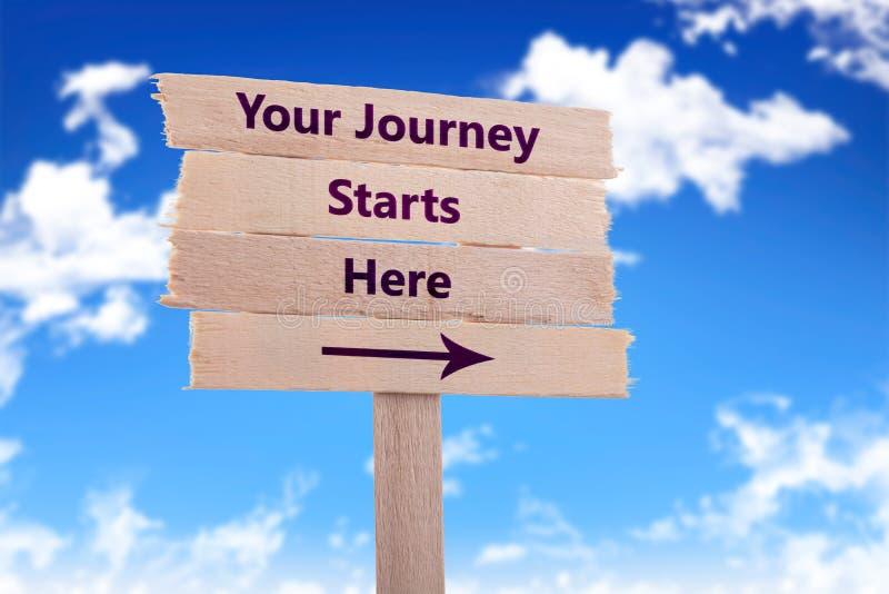 Il vostro inizio di viaggio qui immagine stock libera da diritti