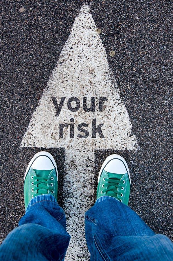 Il vostro segno di rischio immagini stock libere da diritti