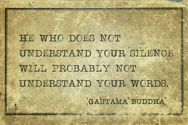 Il vostro silenzio Buddha fotografie stock libere da diritti