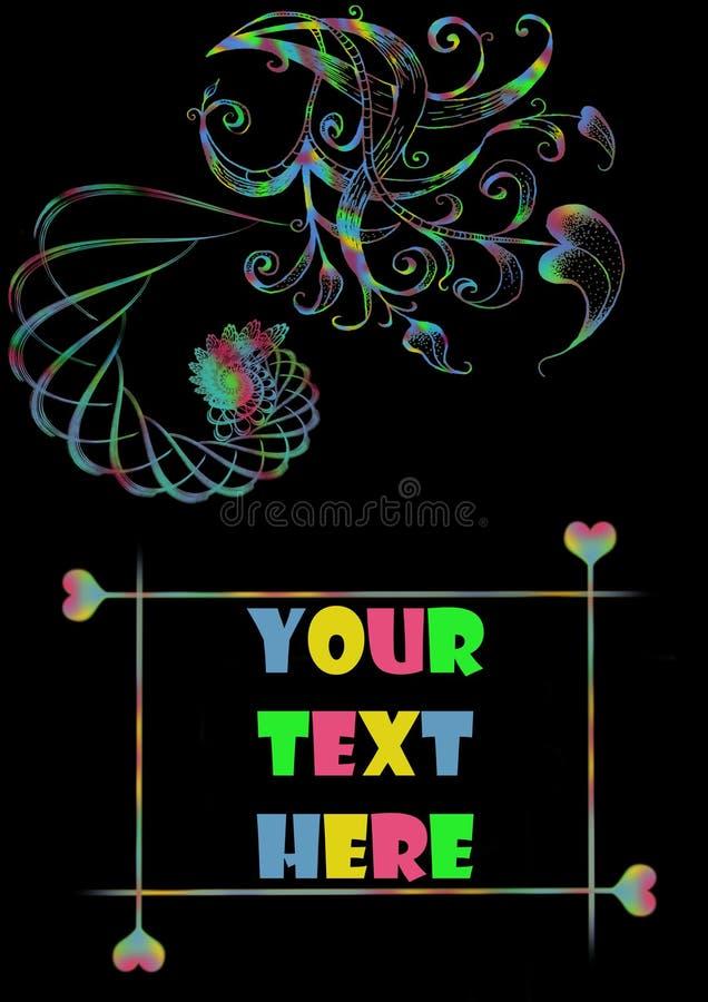 Il vostro testo qui fotografie stock