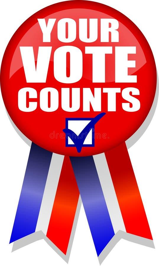 Il vostro voto conta Button/AI royalty illustrazione gratis
