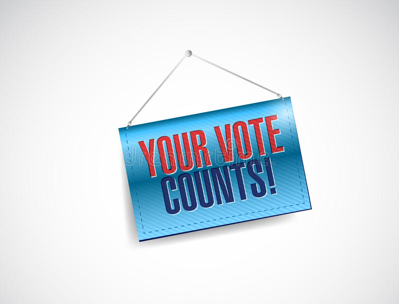 Il vostro voto conta l'illustrazione dell'insegna illustrazione vettoriale
