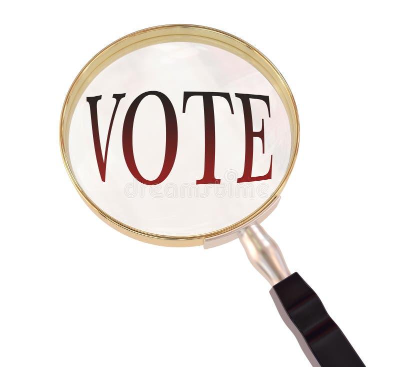 Il voto ingrandice royalty illustrazione gratis