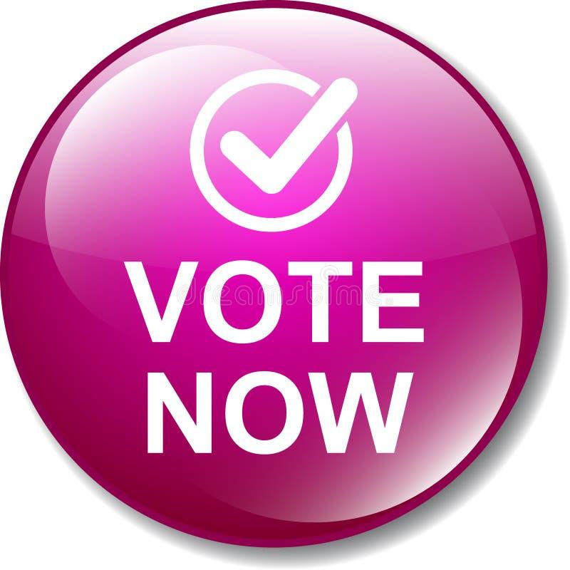 Il voto ora abbottona l'icona illustrazione di stock