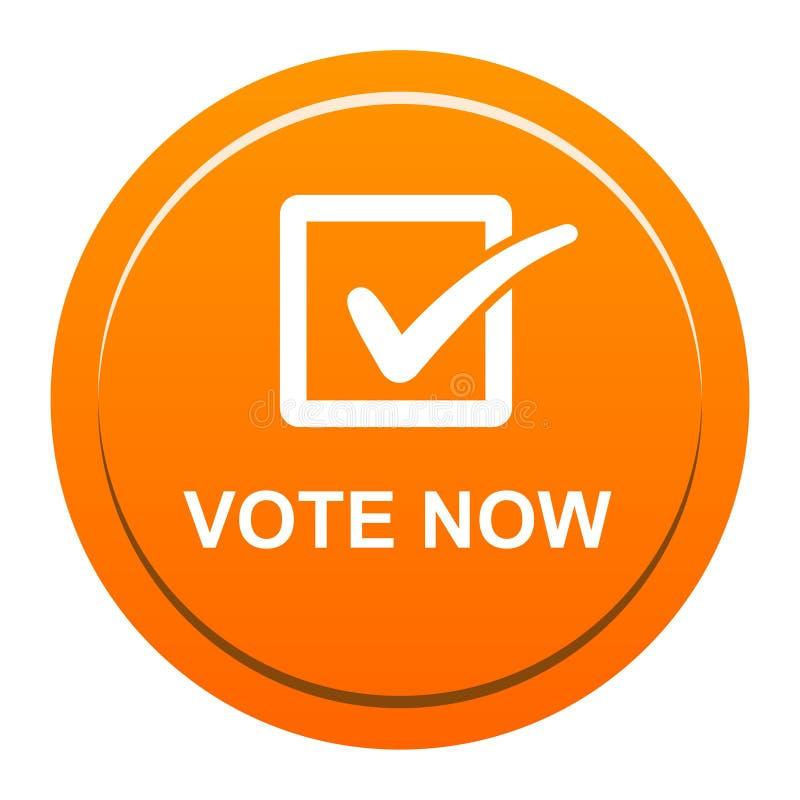 Il voto ora si abbottona illustrazione di stock