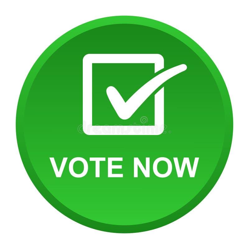 Il voto ora si abbottona royalty illustrazione gratis