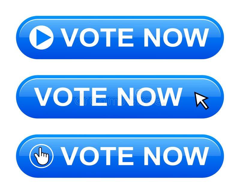 Il voto ora si abbottona illustrazione vettoriale