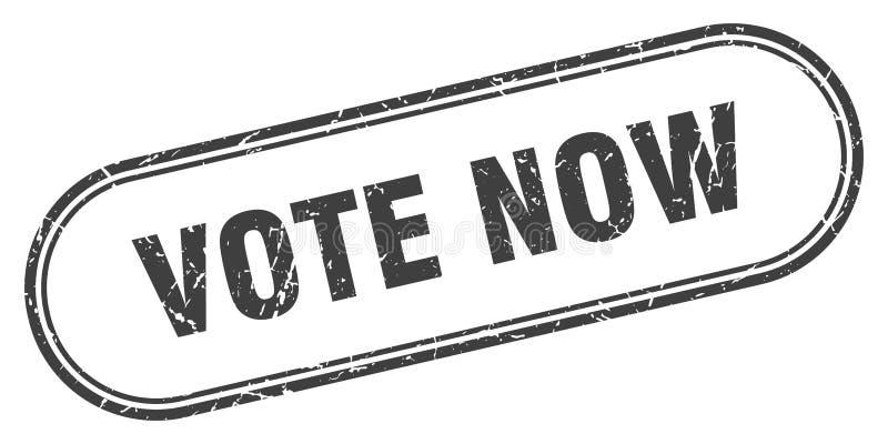 Il voto ora timbra illustrazione di stock