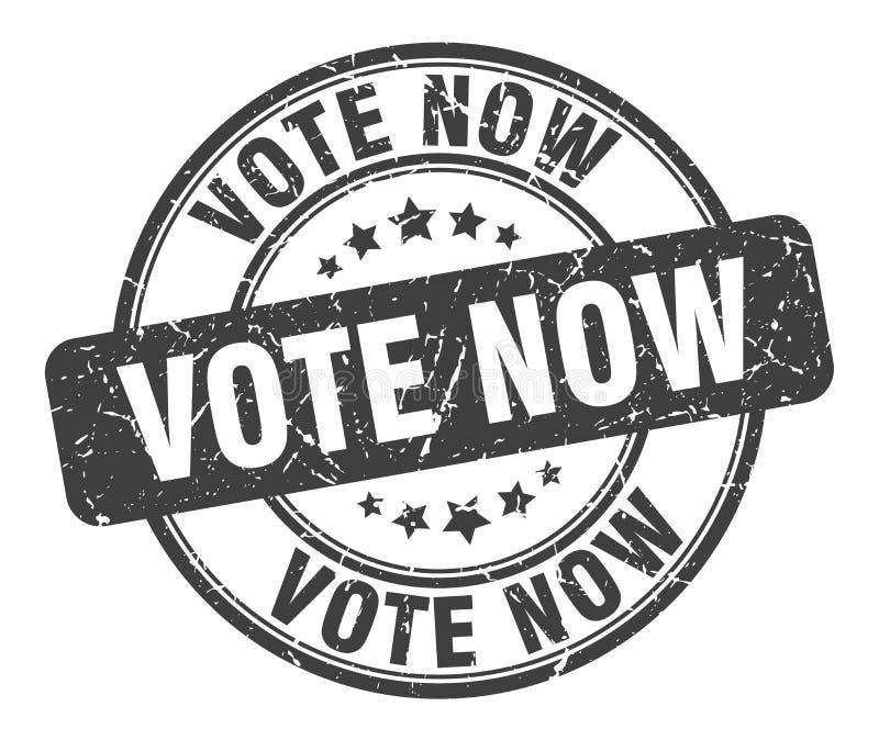 Il voto ora timbra illustrazione vettoriale
