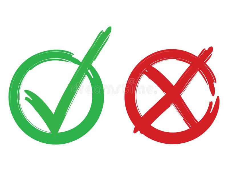 Il voto segna la progettazione originale illustrazione di stock