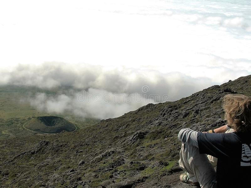 Il vulcano di Pico immagini stock libere da diritti