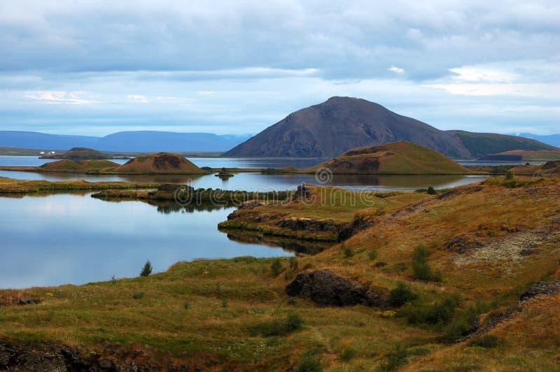 Il vulcano in Islanda fotografie stock libere da diritti