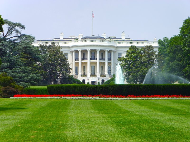 Il Washington DC della Casa Bianca. fotografia stock libera da diritti