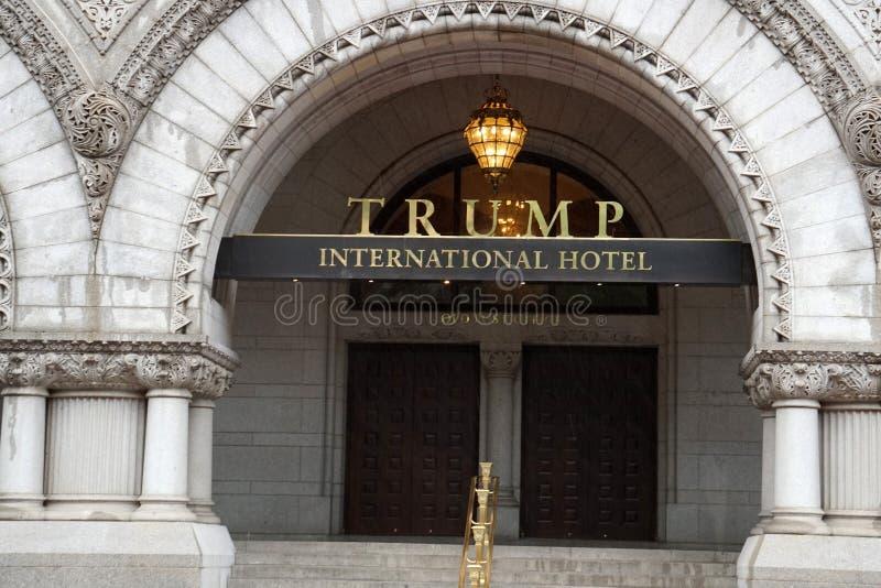 Il WASHINGTON DC, U.S.A. - 16 maggio 2018 - ufficio postale ora è Trump Inte fotografia stock libera da diritti