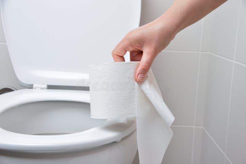 Il Wc nasconde la ciotola di toilette fotografia stock
