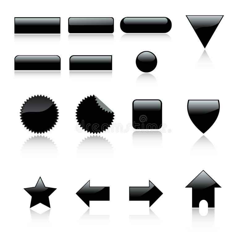 il Web 3d 2 icone ha impostato con reflec illustrazione vettoriale