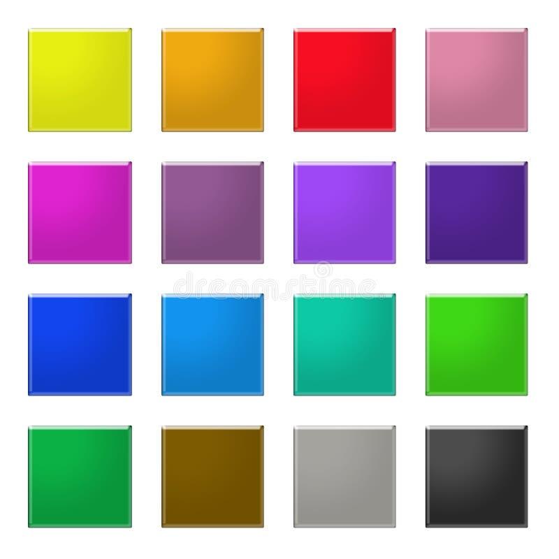 Il Web del Rainbow abbottona 4 illustrazione vettoriale