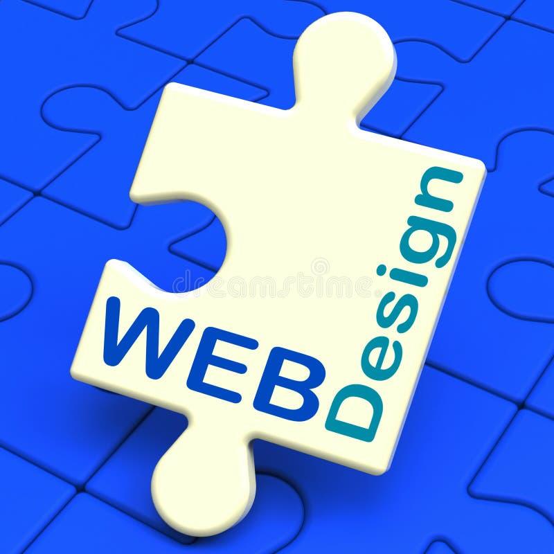 Il web design mostra la progettazione grafica online royalty illustrazione gratis