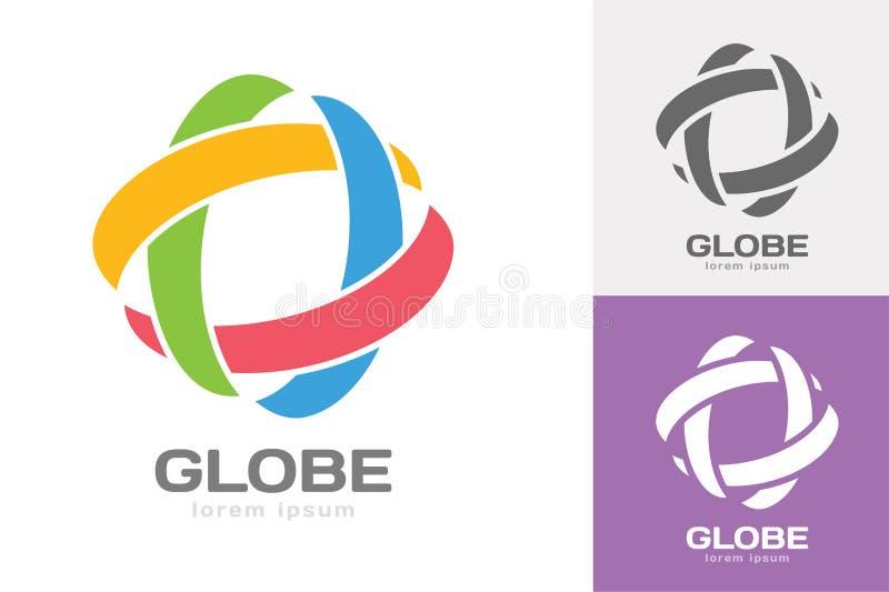 Il web di orbita della tecnologia suona il logo illustrazione vettoriale