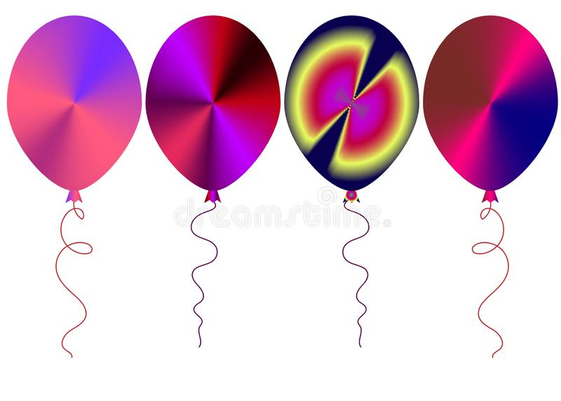 Il web ha colorato i palloni Imposti l'illustrazione di vettore immagine stock libera da diritti