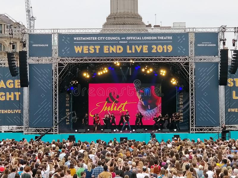 Il West End vive Juliet 2019 immagini stock libere da diritti