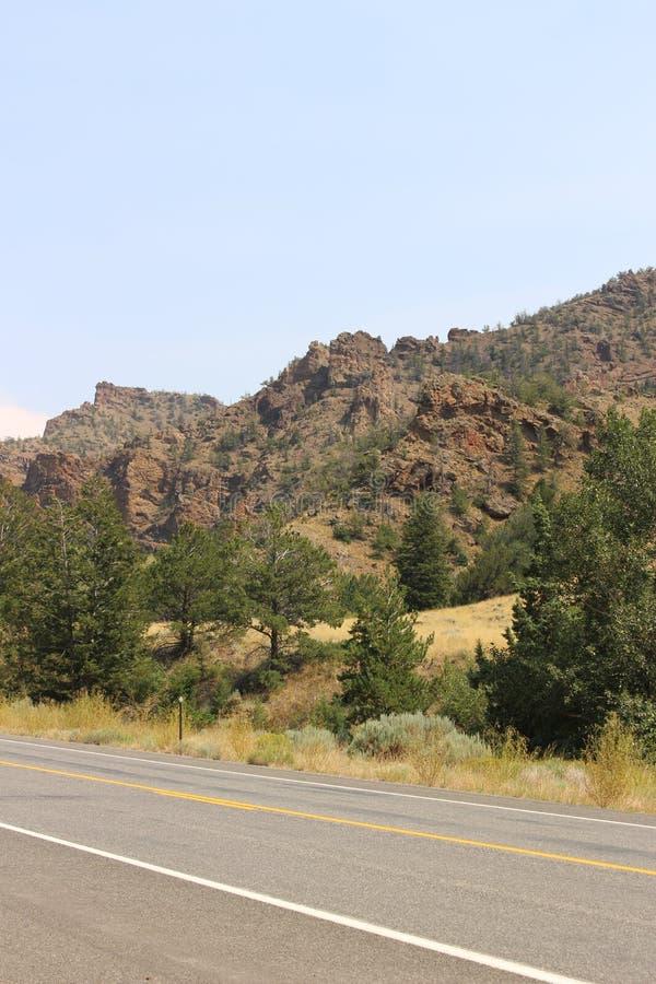 Il Wyoming - montagne immagini stock