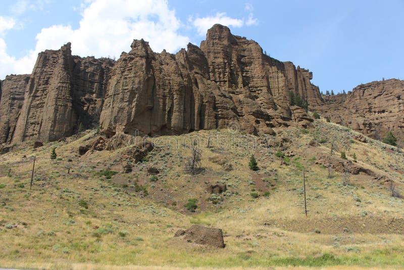 Il Wyoming - montagne fotografia stock libera da diritti