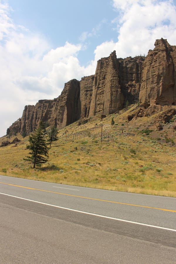 Il Wyoming - montagne immagine stock