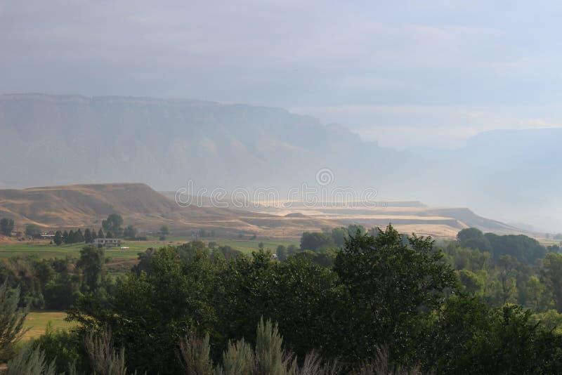 Il Wyoming - montagne fotografie stock libere da diritti