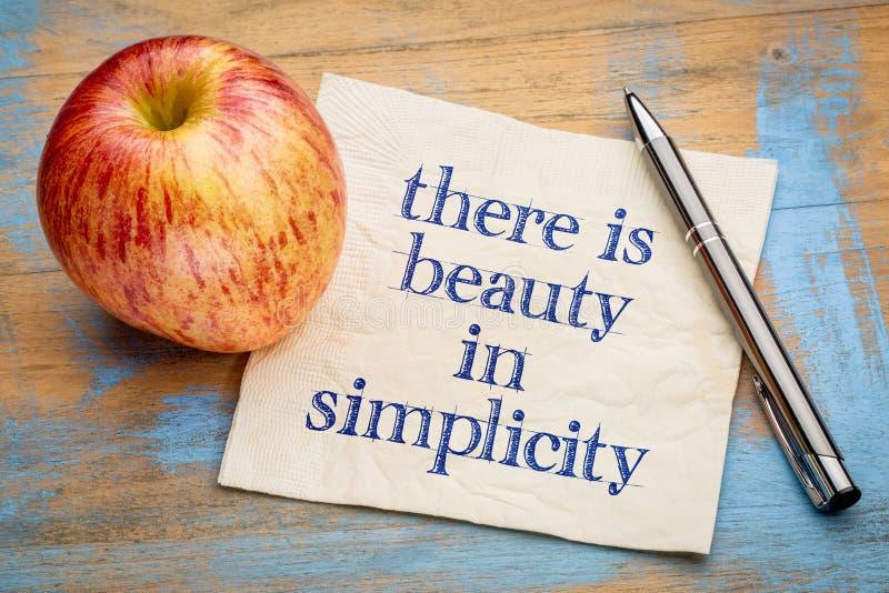 Il y a beauté dans la simplicité photo libre de droits