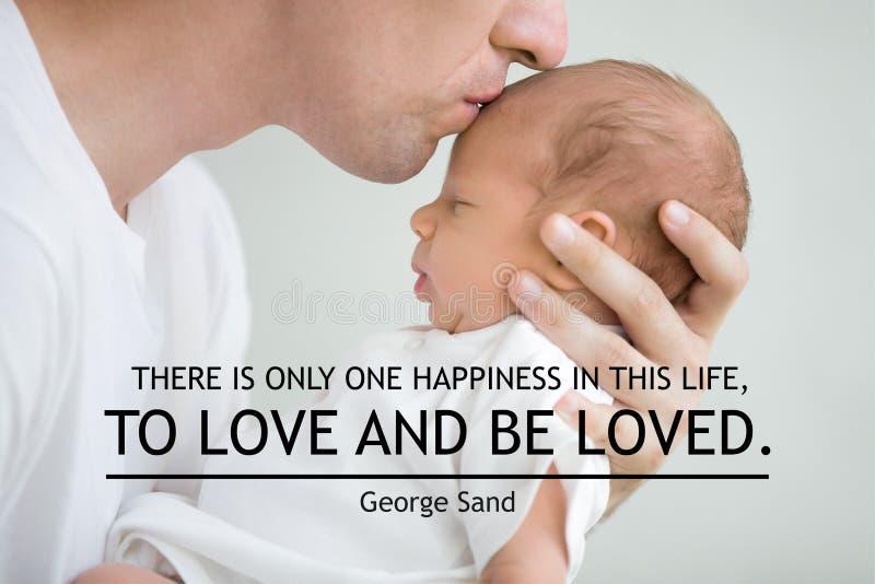 Il y a seulement un bonheur dans cette vie, pour aimer et être aimé image libre de droits