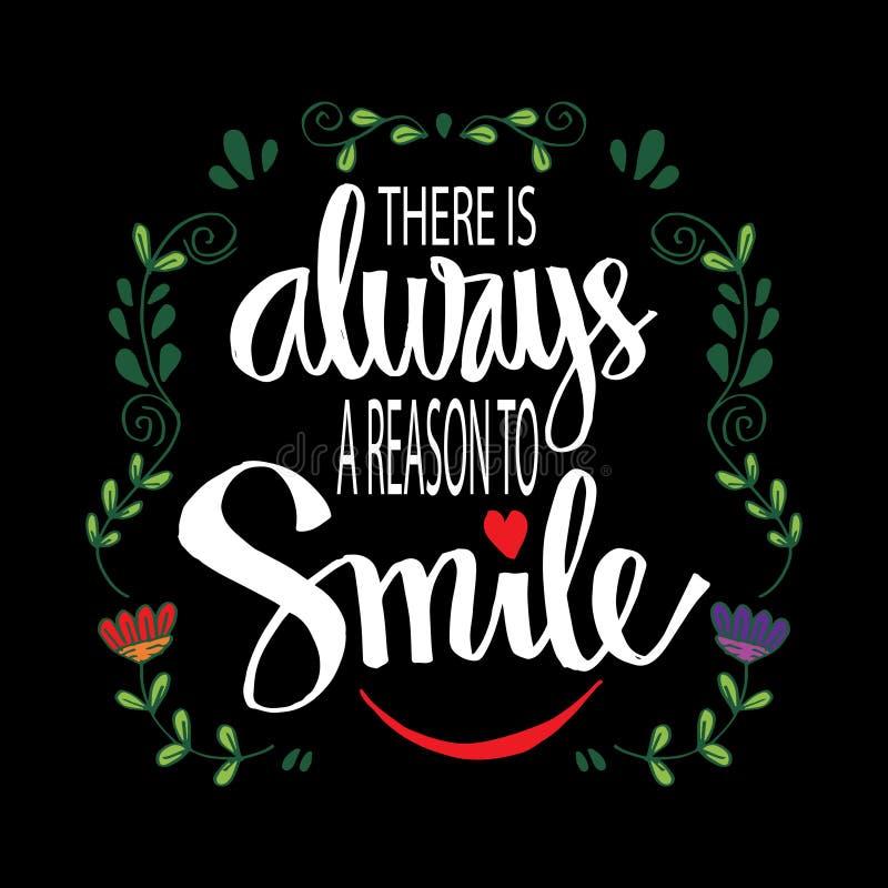 Il y a toujours une raison de sourire illustration stock