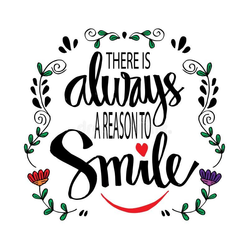 Il y a toujours une raison de sourire illustration libre de droits
