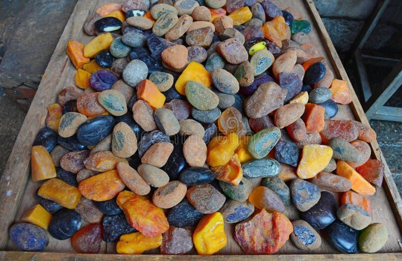 Il Yunnan ha colorato il minerale metallifero della giada immagine stock libera da diritti