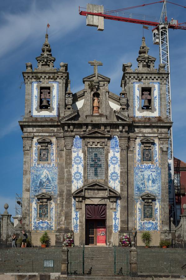 Ildefonso Saint Church em Porto foto de stock