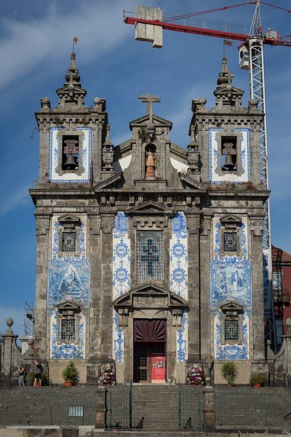 Ildefonso Saint Church i Porto arkivfoto