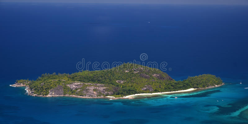 Ile特雷瑟塞舌尔群岛 库存图片