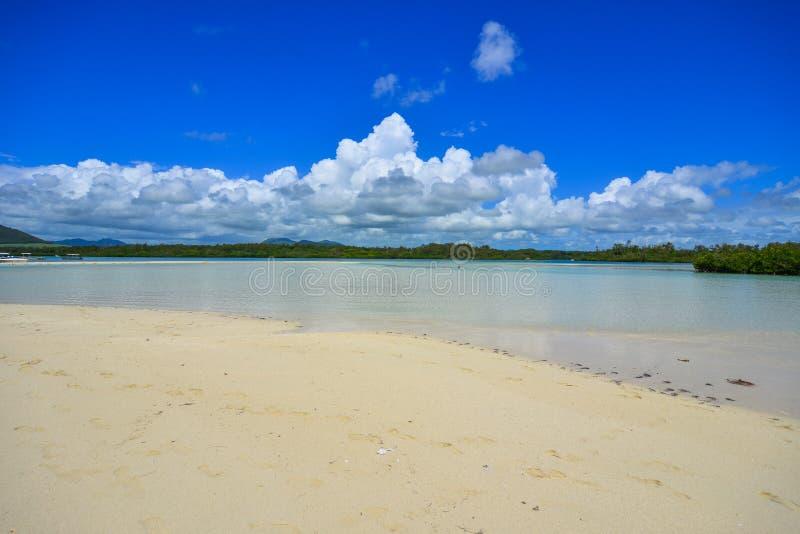 Ile aux Cerfs Île de loisirs, Maurice image libre de droits