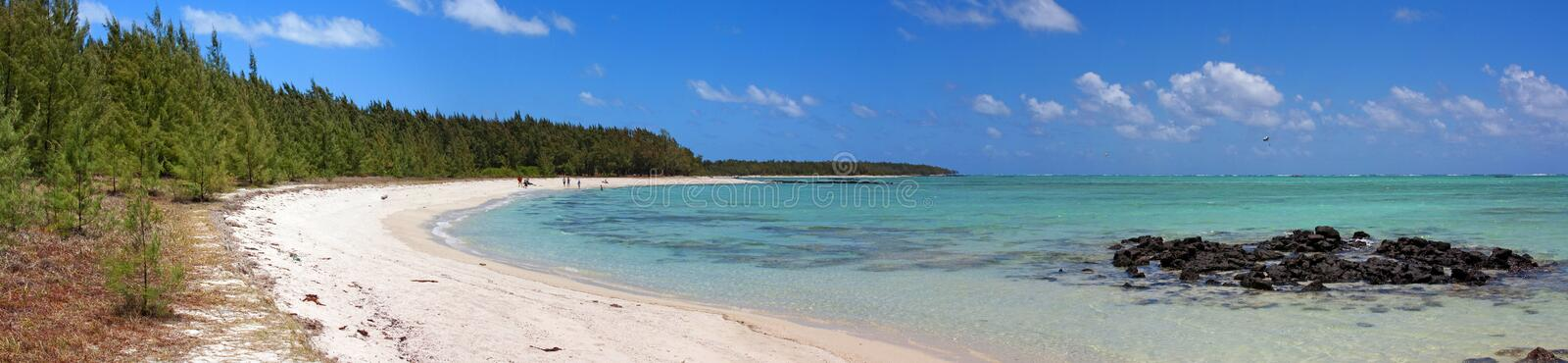 Ile Aux Cerfs. An island in the east of Mauritius, photographed in November 2010 stock images