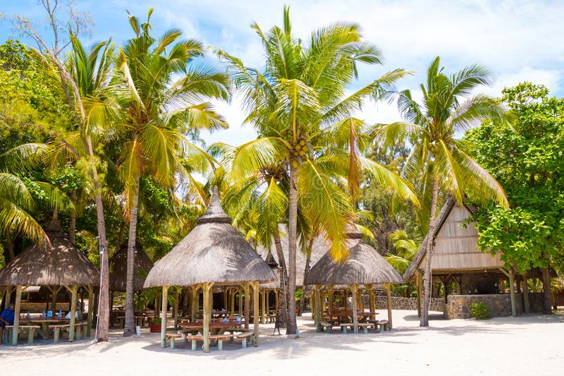 Ile Aux Cerfs Island touristic resort. Ile Aux Cerfs Island Famous touristic resort near Mauritius coast is a known destination for many water sports and royalty free stock photography
