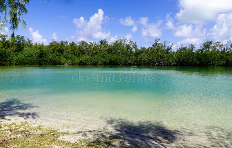 Ile Cerfs czasu wolnego aux wyspa, Mauritius zdjęcie royalty free