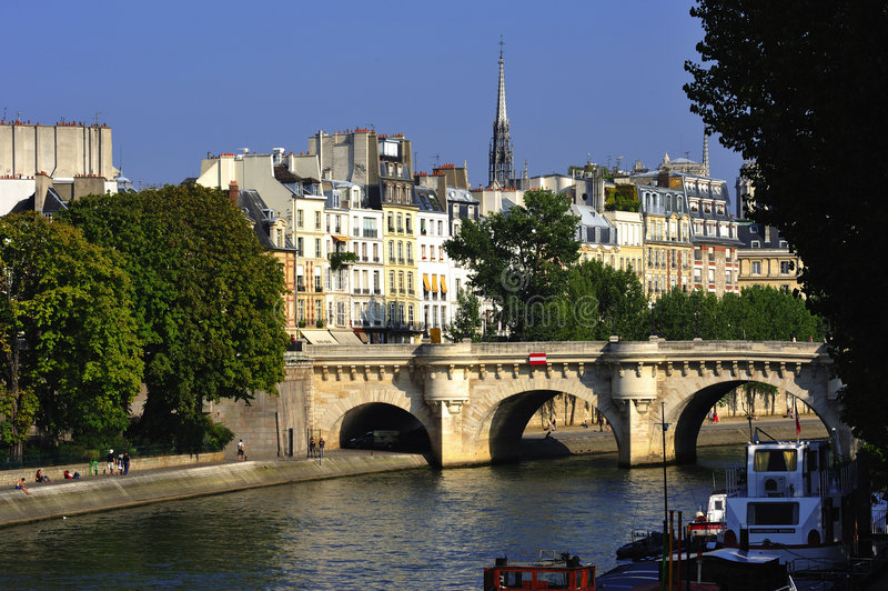 ile cites de France la Paris widok fotografia royalty free