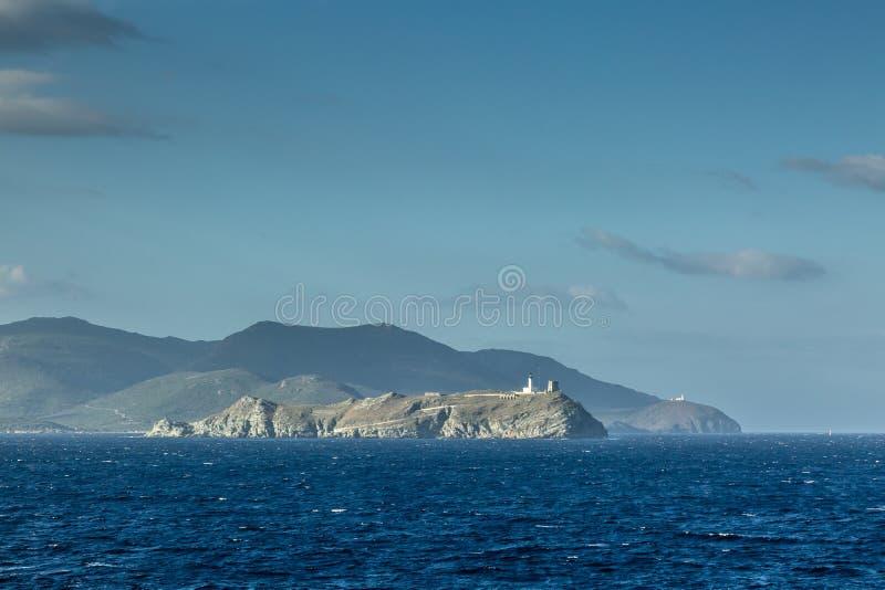 Ile de Λα Giraglia στη βόρεια άκρη της ΚΑΠ Κορσική στοκ φωτογραφίες